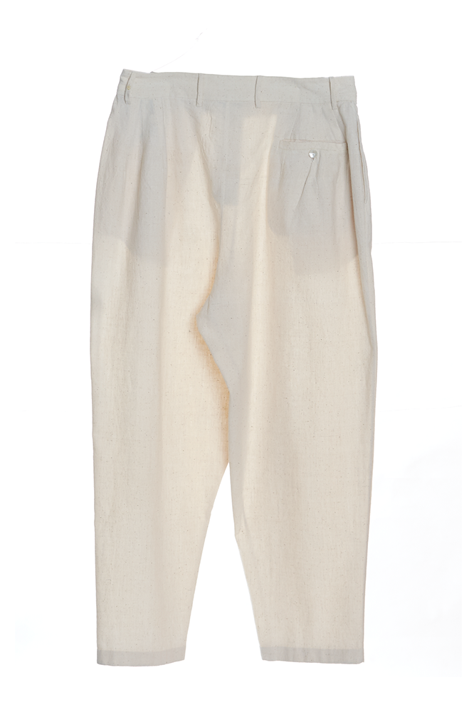 RELAXED FIT PANTS UNBLEACHED ORGANIC COTTON