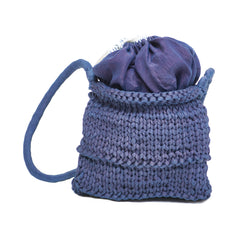KNITTED INDIGO BAG