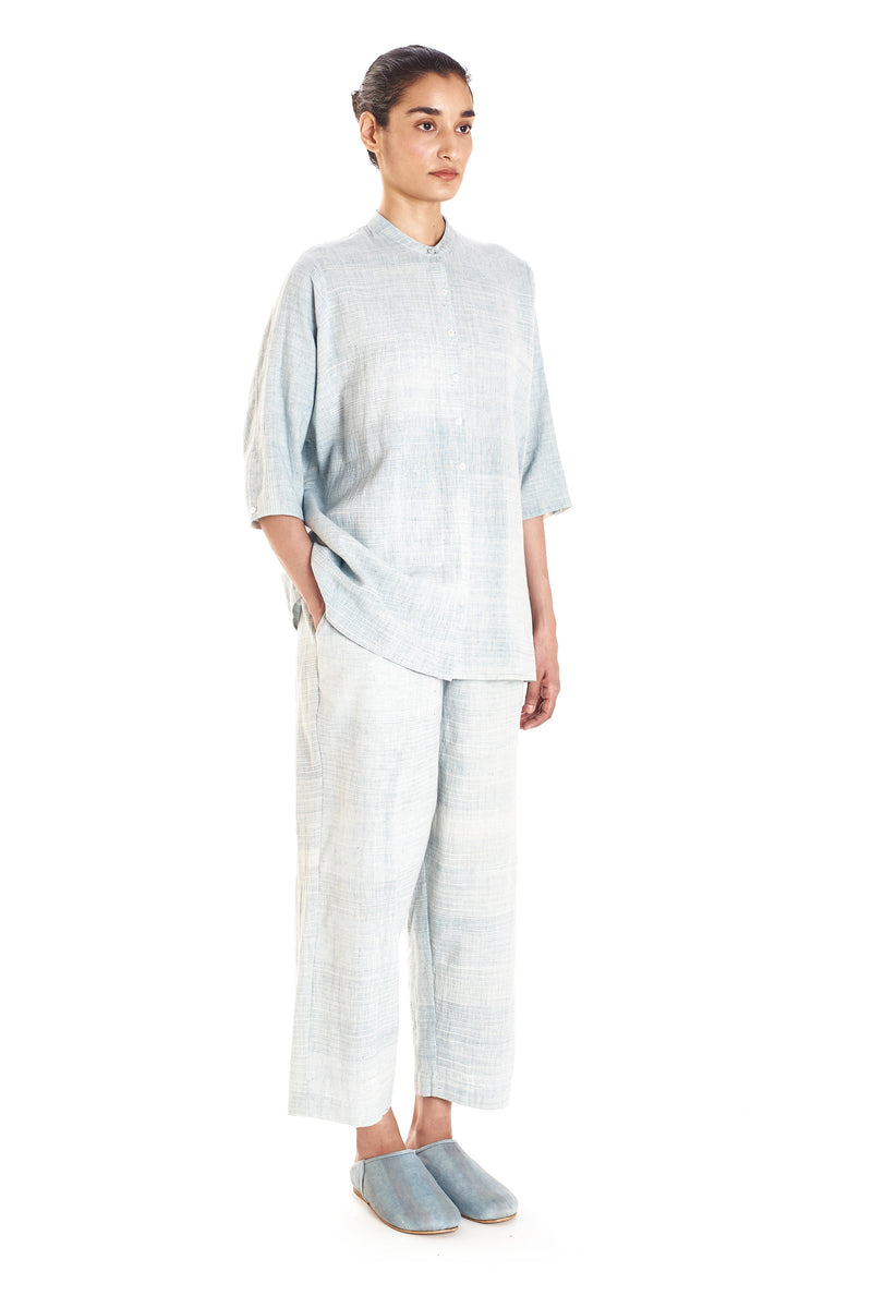 ORGANIC COTTON INDIGO WOMEN TROUSER