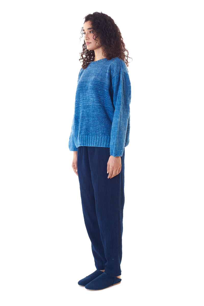 INDIGO HEIRLOOM SWEATER