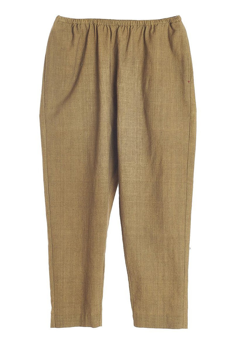 HUNTER GREEN STRAIGHT FIT TROUSERS ORGANIC COTTON