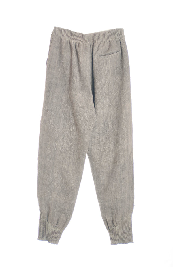 GRAY ORGANIC COTTON JOGGERS
