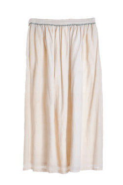 UNBLEACHED ORGANIC COTTON GATHERED SKIRT