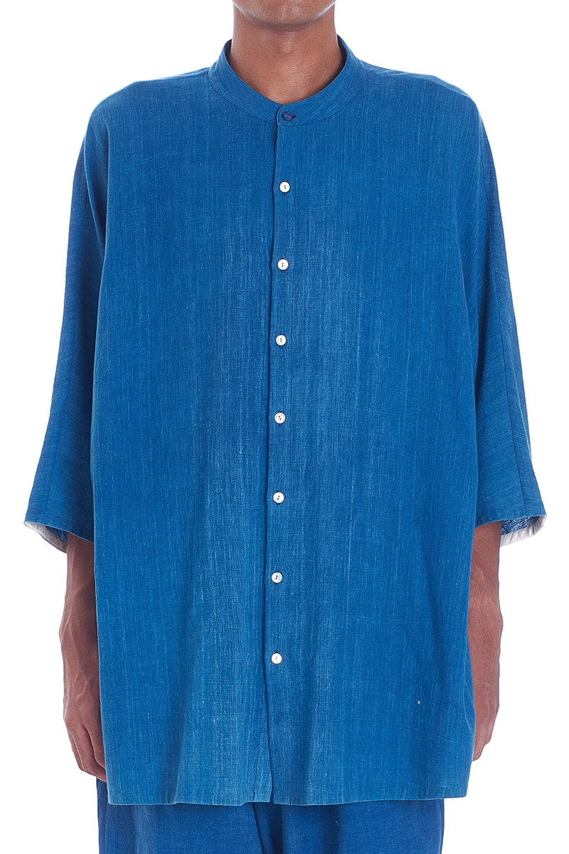 INDIGO BASIC SHIRT ORGANIC COTTON