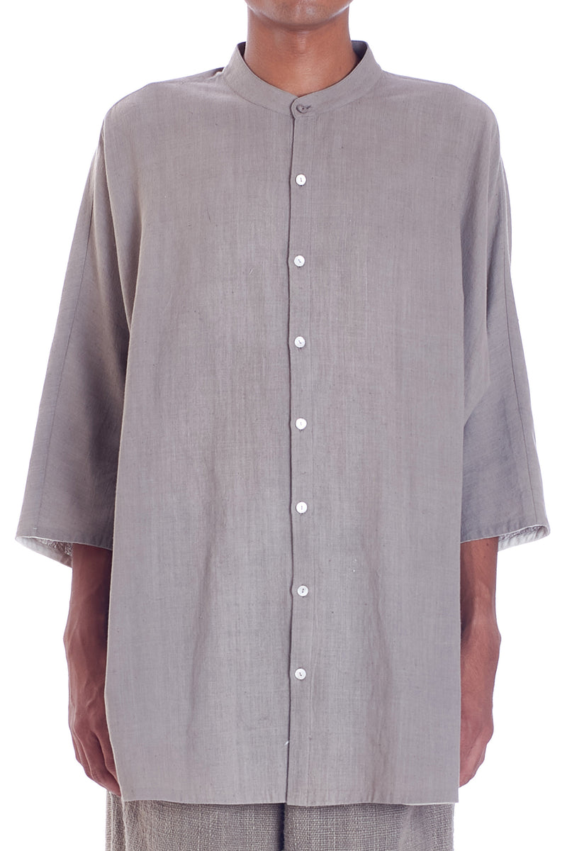 GRAY BASIC SHIRT ORGANIC COTTON