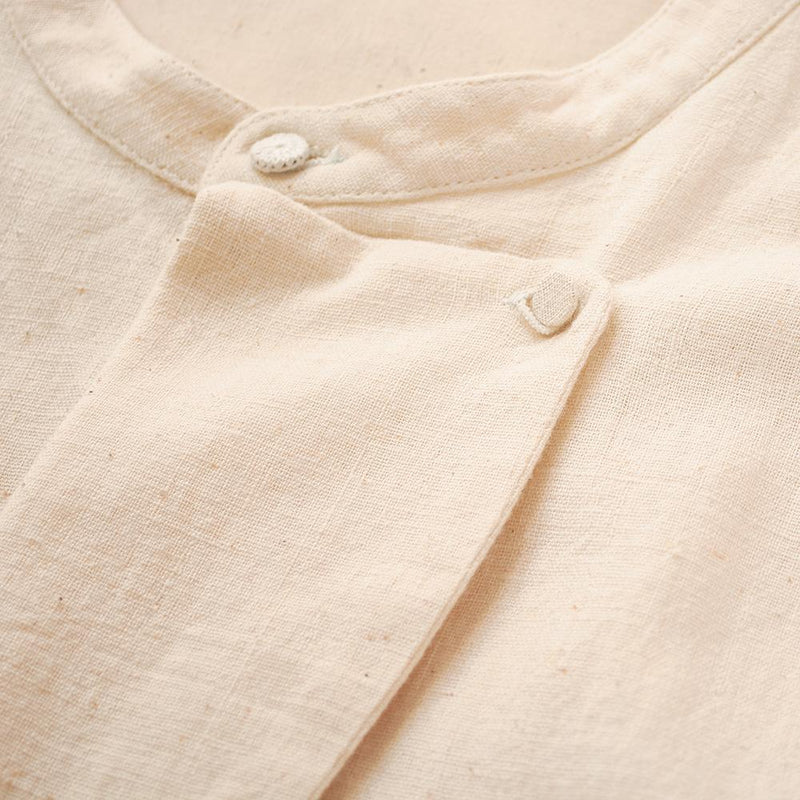 UNBLEACHED ORGANIC COTTON MENS SHIRT