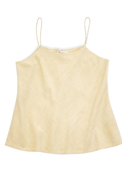 LIGHT YELLOW STRAPPY TOP ORGANIC COTTON