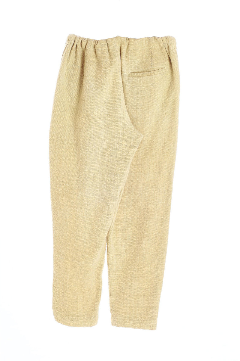 LIGHT YELLOW STRING PANTS ORGANIC COTTON