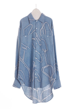 INDIGO OVERSIZED SHIRT