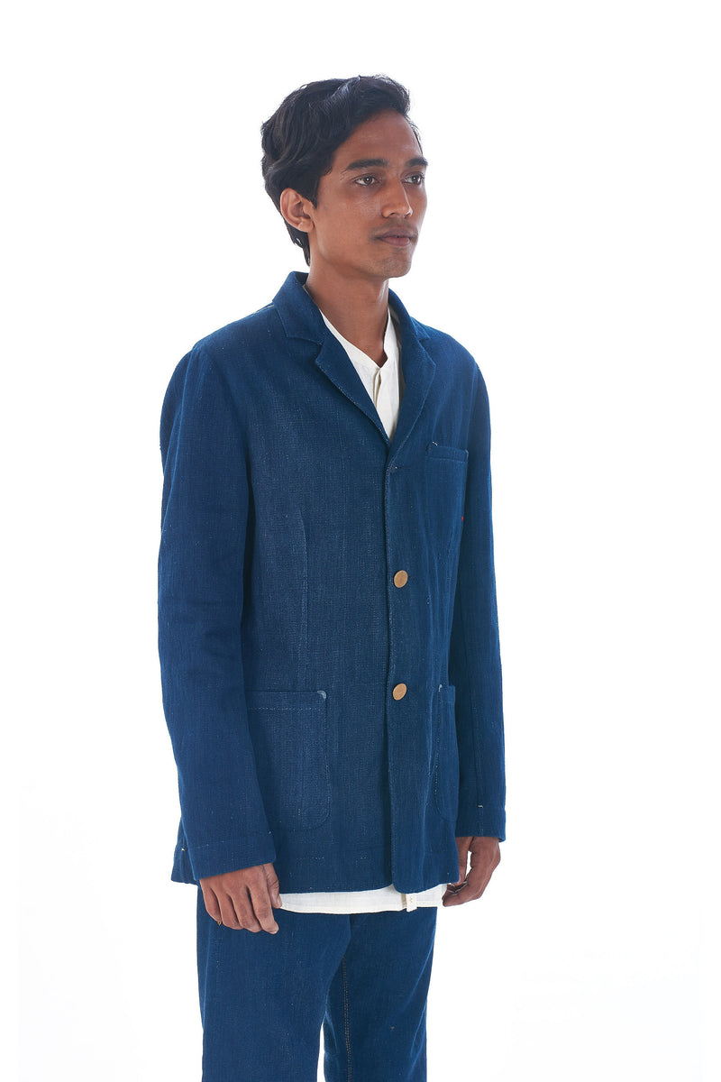 100% HANDMADE INDIGO JACKET ORGANIC COTTON
