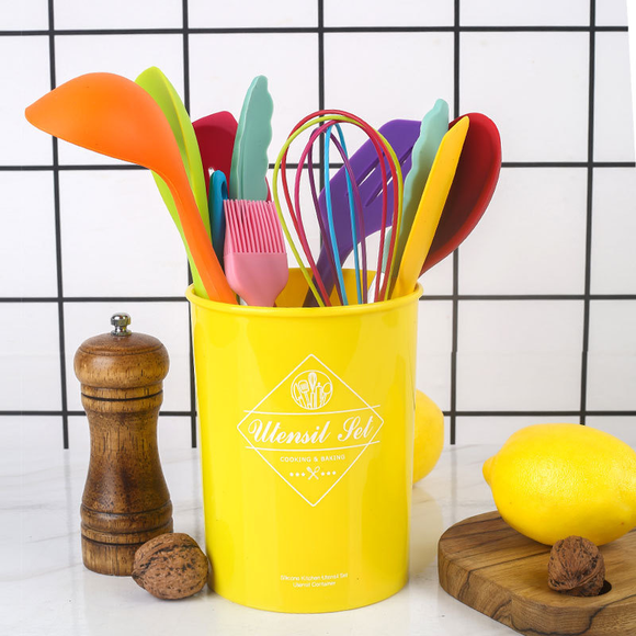 10-piece Rainbow Silicone Kitchen Utensil Set