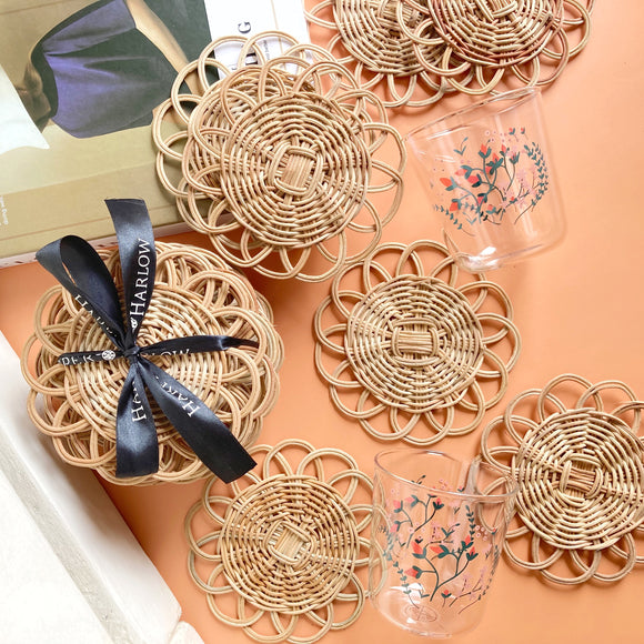 Emilia Rattan Wicker Coaster