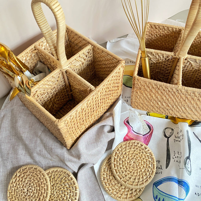 Tilda Rattan Kitchen Caddy