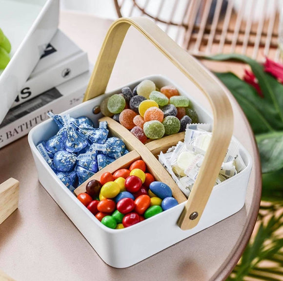 Piper Square Serving Basket with Removable Divider