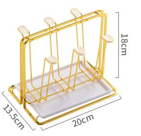 Pelle Glass with Rack Set