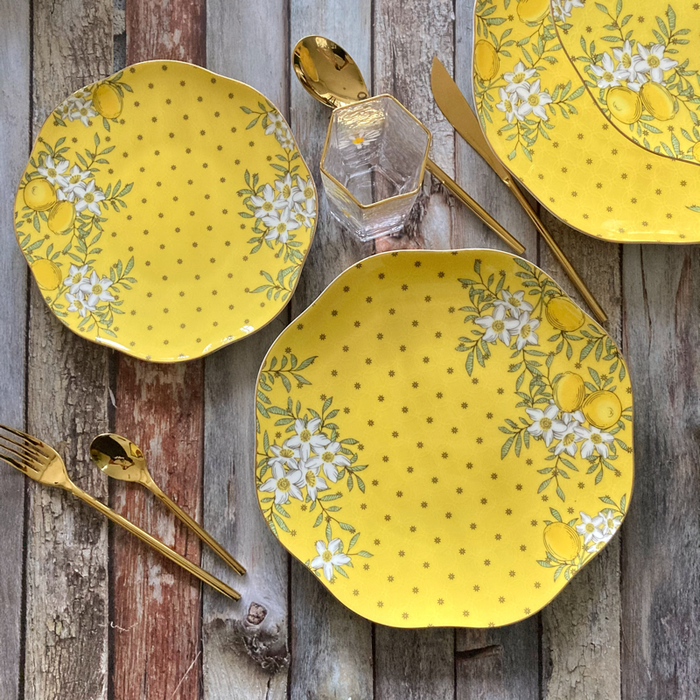 Citron Dinner & Dessert Plate Set