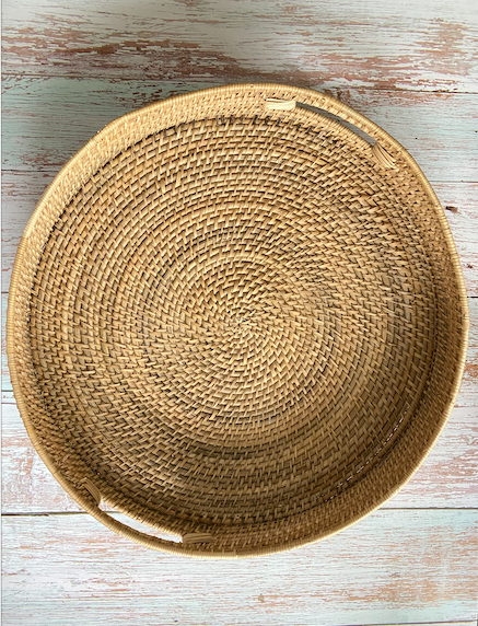 Surya Rattan Serving Tray