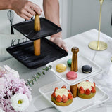 Runa Two-Tier Cake and Pastry Stand