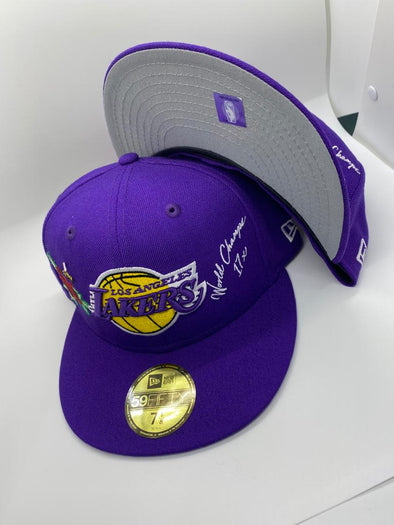Los Angeles Lakers New Era Icon 2.0 59FIFTY Fitted Hat-Blue
