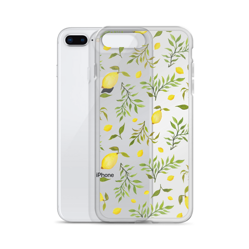 Clear Lemon Print Phone Case
