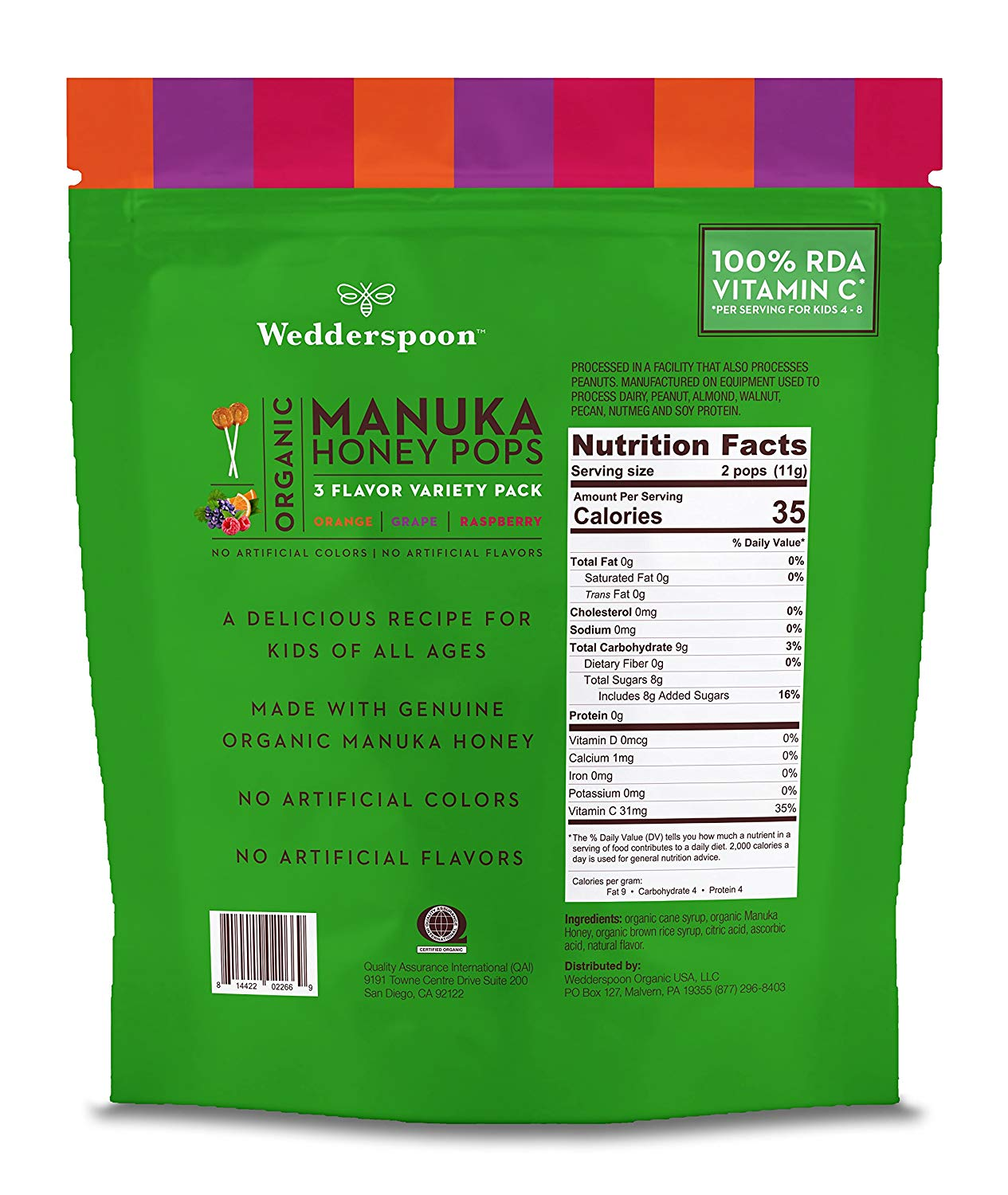 ORGANIC MANUKA HONEY POPS VARIETY PACK (24 ct)
