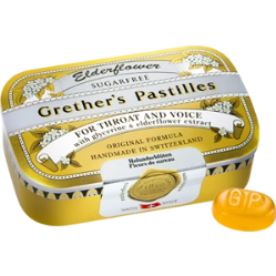 Grether's Pastilles Elderflower 3.75oz Sugar Free