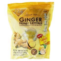 Ginger Honey Crystals Lemon Flavor