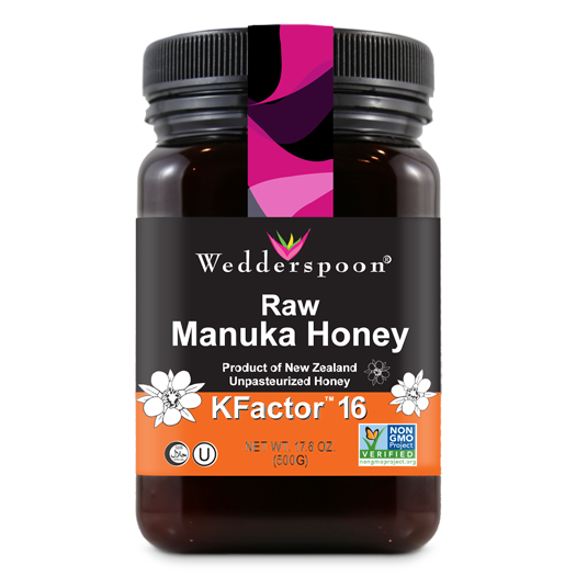 Wedderspoon 100% Raw Premium Manuka Honey KFactor 16+, 8.8 Ounce