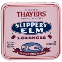 Thayers Natural Remedies Slippery Elm Cherry 42 Lozenge