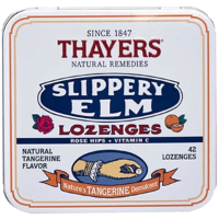 Thayers Natural Remedies Slippery Elm Tangerine 42 Lozenge