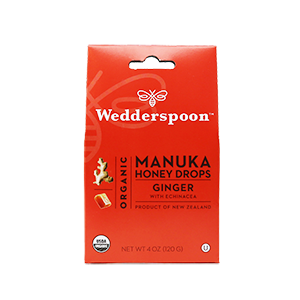 Organic Manuka Ginger Honey Drops