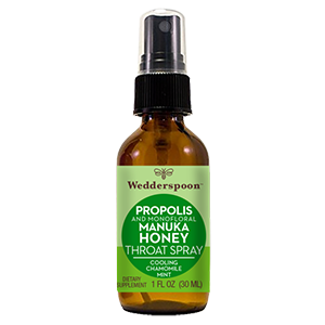 PROPOLIS AND MANUKA HONEY THROAT SPRAY - COOLING CHAMOMILE MINT