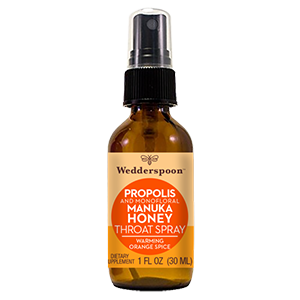 PROPOLIS AND MANUKA HONEY THROAT SPRAY - WARMING ORANGE SPICE