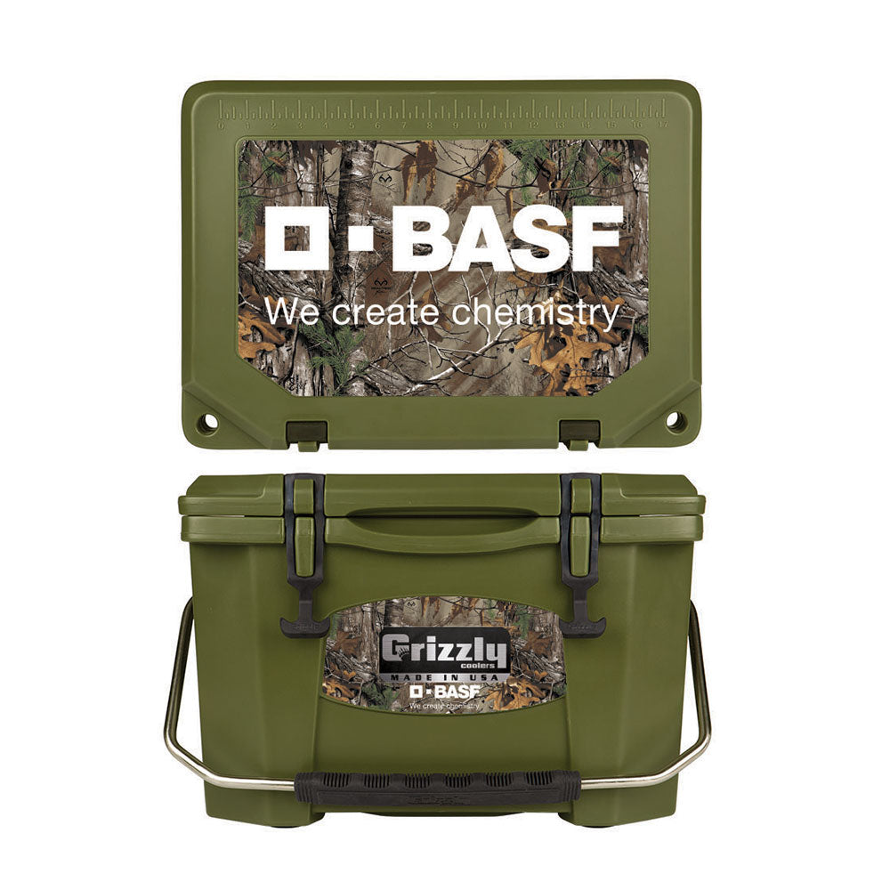 Grizzly 20 Quart Cooler - Realtree CAMO (Multiple Colors Available)