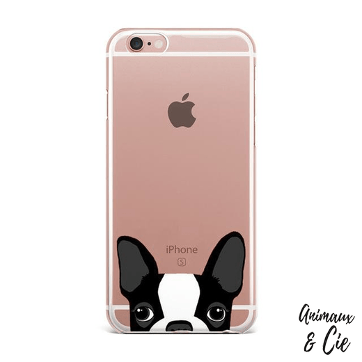 coque iPhone transparente chien