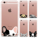 coque iPhone chien transparente