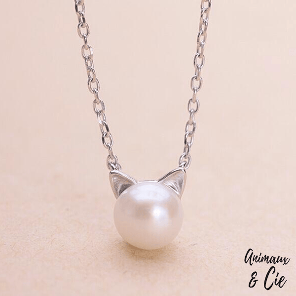 collier perle chat