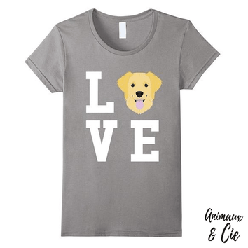 T-Shirt - I Love My Dog Golden Retriever