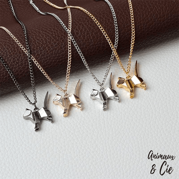Collier - Origami Silhouette Chat