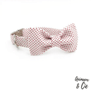 collier chien noeud rose