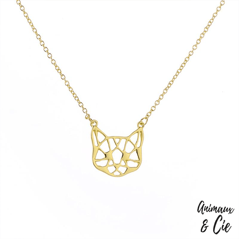 Collier - Origami Chat