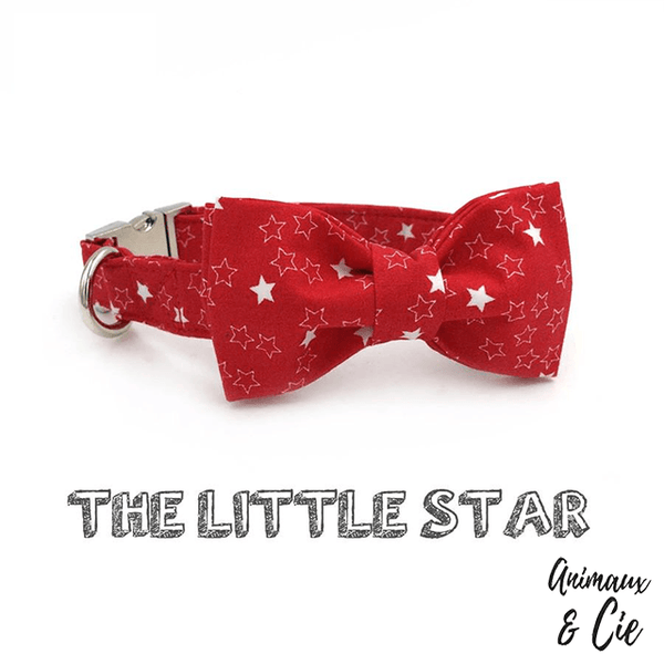 collier noeud rouge star pour chien