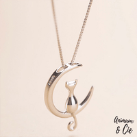 Collier Lune Chat - Animaux&Cie