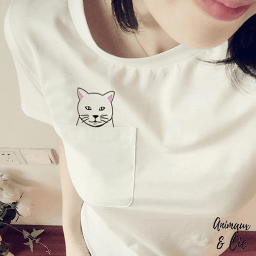 T-shirt Chaton Malin - Animaux&Cie