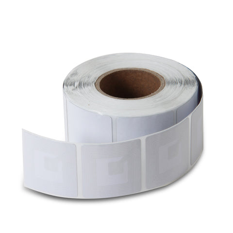 10000 RF 8.2Mhz Paper Security Labels 1.5 inch (4x4) White Value Package