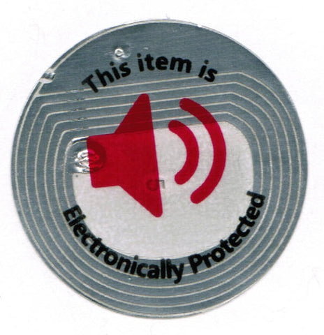 2000 RF 8.2Mhz Round Clear Security Labels 1.35 inch (33mm) diameter.