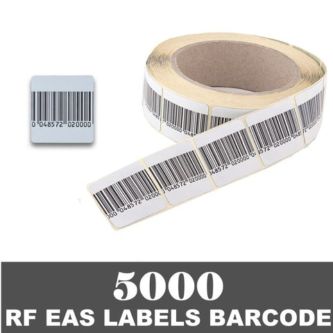 5000 RF 8.2Mhz Paper Security Labels 1.5 inch (4x4) BC Value Package