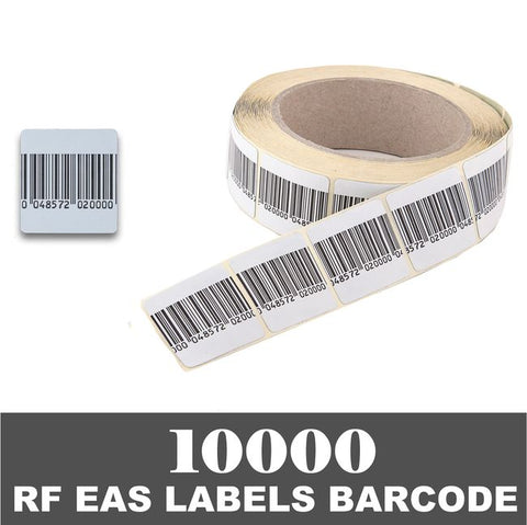 10000 RF 8.2Mhz Paper Security Labels 1.5 inch (4x4) BC Value Package