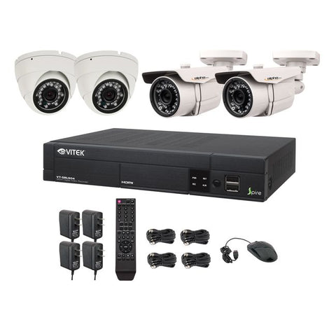Vitek® Complete 4CH 960H DVR 960H CCTV Digital Surveillance Security Camera System