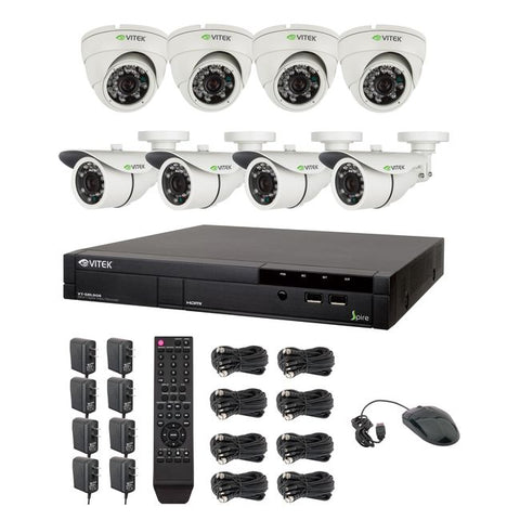 Vitek® Complete 8CH 960H DVR 960H CCTV Digital Surveillance Security Camera System